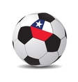 soccer ball with the flag of Chile vector image vector image