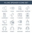 speaker icons vector image vector image