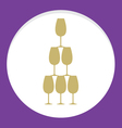 Stack Of Wine Glass Celebration Concept vector image