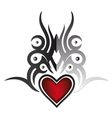 Tattoo heart vector image vector image
