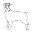 terrier single icon in outline styledog vector image vector image