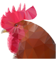 triangle rooster vector image