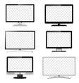 tv and computer monitor transparent screen set vector image vector image