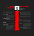 typographic minimalist cv resume template vector image vector image