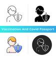 vaccination teens icon vector image vector image