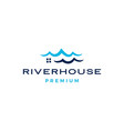 water ripple sea wave river house logo icon vector image vector image