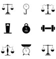 weight icon set vector image vector image