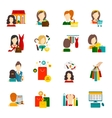 Woman Shopping Icon Flat vector image vector image