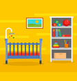 yellow baby room background flat style vector image vector image