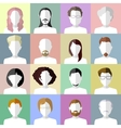 Flat people icons Set of stylish people icons on vector image