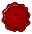 100 NATURAL wax seal vector image vector image