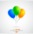 3d realistic colourful birthday or party balloons vector image