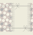 abstract cover with lace frame decorative bows vector image