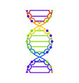 abstract dna strand symbol isolated on white vector image vector image