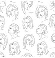 abstract trendy seamless pattern with one line vector image vector image