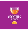 alcoholic cocktails logo vector image