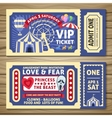Amusement Park Tickets vector image vector image