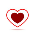 beautiful red heart isolated icon vector image