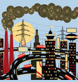 big industrial city vector image