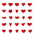 Big set of diffrent hearts vector image vector image