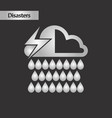 black and white style thunderstorm rain cloud vector image