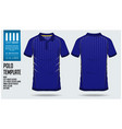 blue polo t shirt sport template design vector image vector image