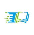 book education logo vector image vector image