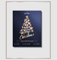 christmas poster template with christmas tree of vector image vector image