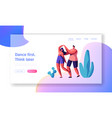 club people in love dance together landing page vector image