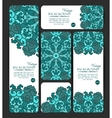 Collection of colorful banners and business cards vector image vector image