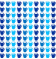 cups wallpaper on white background vector image