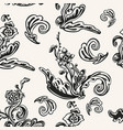 decorative seamless pattern with floral design vector image vector image