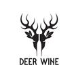 deer wine negative space concept vector image vector image
