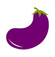 eggplant aubergine with leaves icon violet color vector image