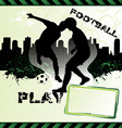 football urban grunge poster with soccer player si vector image