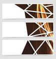 Framed modern swoosh pattern header vector image