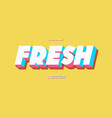 fresh alphabet 3d bold color style vector image
