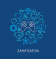 gamification concepts vector image vector image