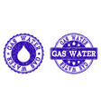 gas water grunge stamp seals vector image vector image
