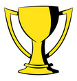 golden trophy cup icon icon cartoon vector image vector image