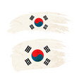 grunge brush stroke with south korea national flag vector image vector image