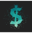 Grunge Dollar Sign vector image