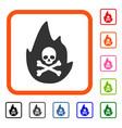 hellfire framed icon vector image vector image