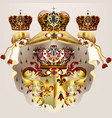 heraldic design with coat of arms crowns and vector image vector image