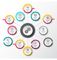 infographic layout with circle labels data flow vector image vector image