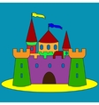 isolated cartoon castle vector image vector image