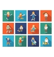Kids Playing Icons vector image vector image