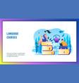 language courses concept vector image vector image