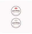 macarons bakery and dessert shop logo sign set vector image vector image