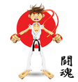 martial art black belt vector image vector image
